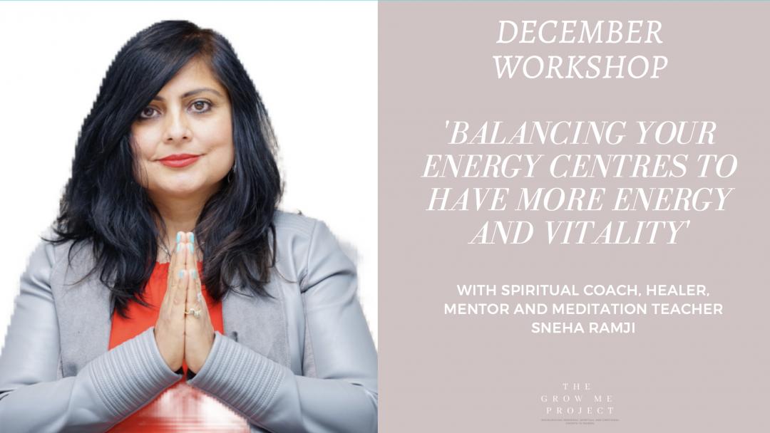 Balancing your chakras. Sneha Ramji
